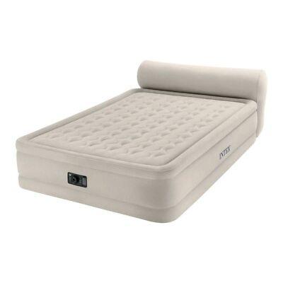 Intex 8924714 Dura-Beam Headboard Air Bed Queen Pump included Beige