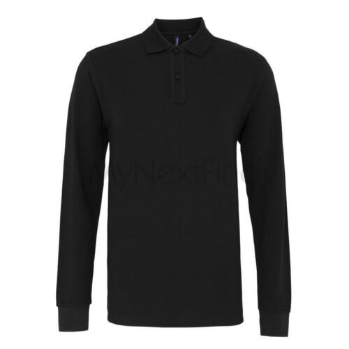 Asquith /& Fox Mens Classic Fit Long Sleeved Polo