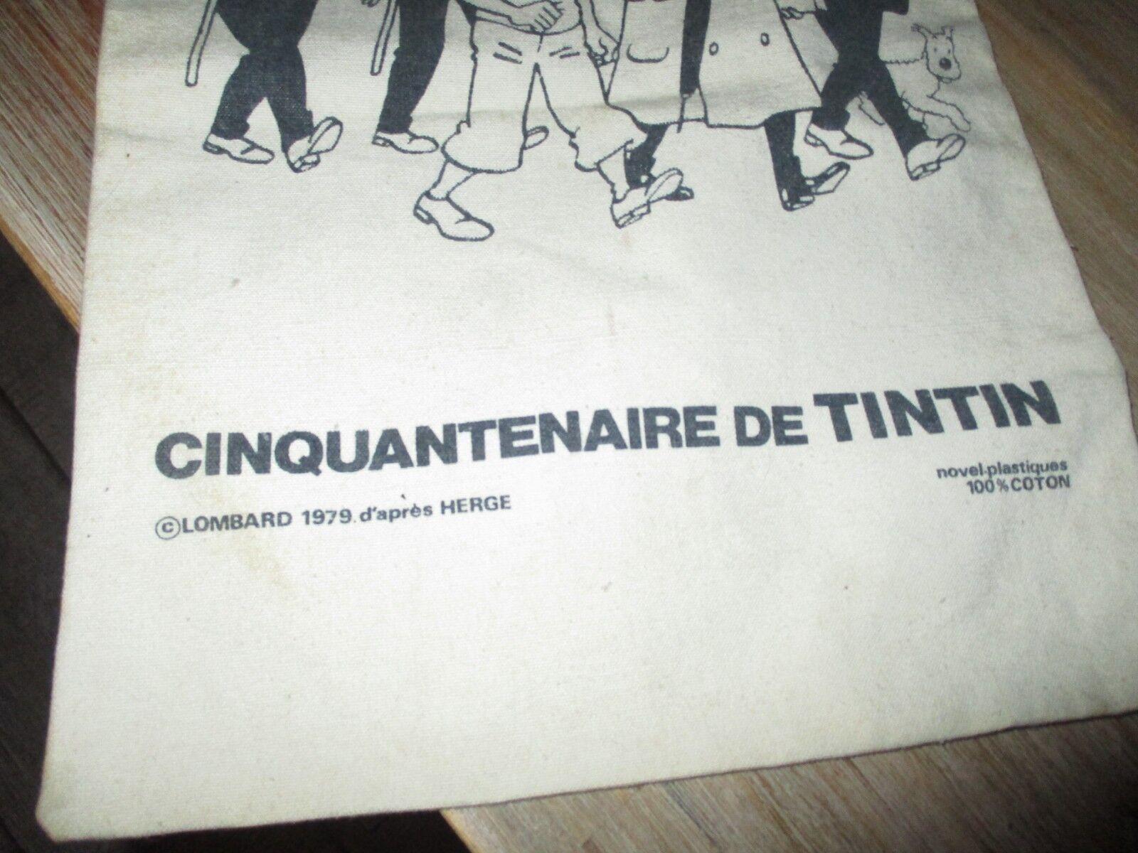 Tintin - Rare sac en toile de de de 1979-Cinquantenaire-Le Lombard-Dessiné par Hergé d8d32e