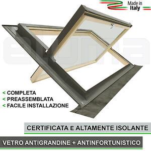 Finestra-per-tetto-COMFORT-BILICO-94x55-Vetro-isolante-apertura-tipo-Velux