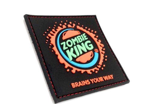 Zombie king cerveaux votre chemin PVC Large Airsoft Patch