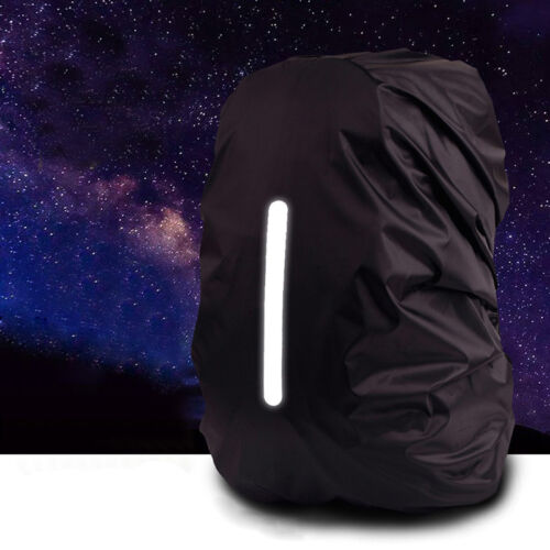 Reflective Waterproof Backpack Rain Cover Night Safety Light Raincover Case  Hf