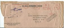 VINTAGE ON INDIA GOVERNMENT SERVICE COVER METER CANC. 23.VI.1966 REGISTERED AIR