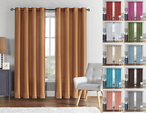 Image Is Loading Vcny Home Ultra Luxurious Faux Silk Grommet Curtain