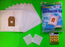 10 Sacchetto aspirapolvere filtro per Siemens: VS01E2100 big bag 3L