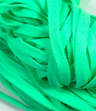 "New! 1 Pair Set Mint Green Shoelaces Shoe Strings Lace Sneakers Flat 47"" Long"