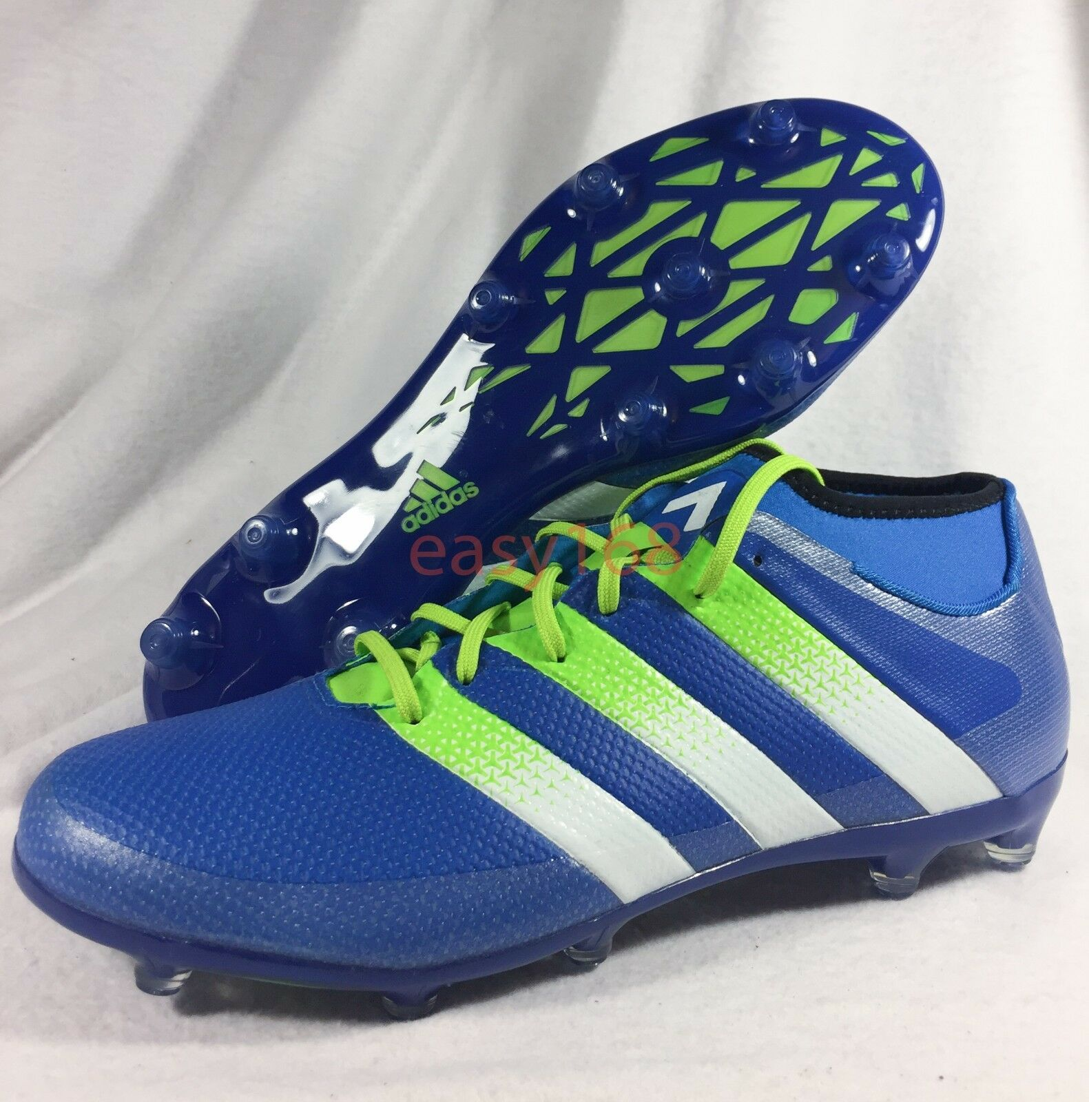 NEW ADIDAS Ace 16.2 Primemesh FG AG Mens Soccer Cleats bluee White AQ2553 Sz 12