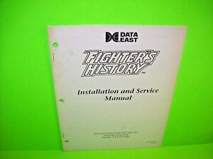 Data-East-FIGHTERS-HISTORY-Original-Video-Arcade-Game-1993-Service-Repair-Manual