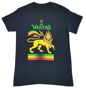 The-Wailers-Lion-of-Judah-Logo-Tee-Black-Size-Small-Adult-T-Shirt-Bob-Marley