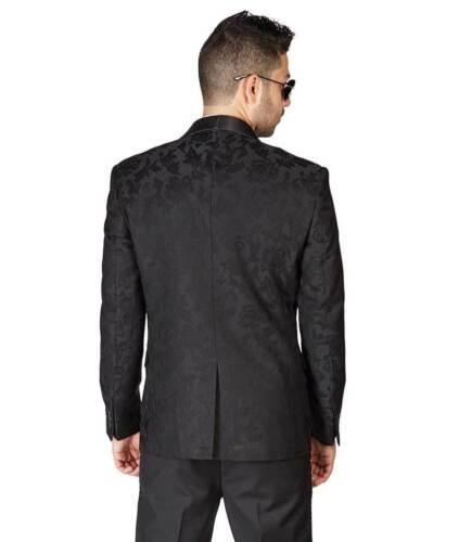 Slim Fit 1 Button Tuxedo Shawl Lapel Floral Jacket Dinner Blazer Coat 1714 AZAR
