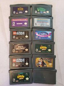 GBA-Game-lot-ALL-TESTED-GOOD-GAMES-Mario-Lego-Star-Wars-Crash-WrestleMania