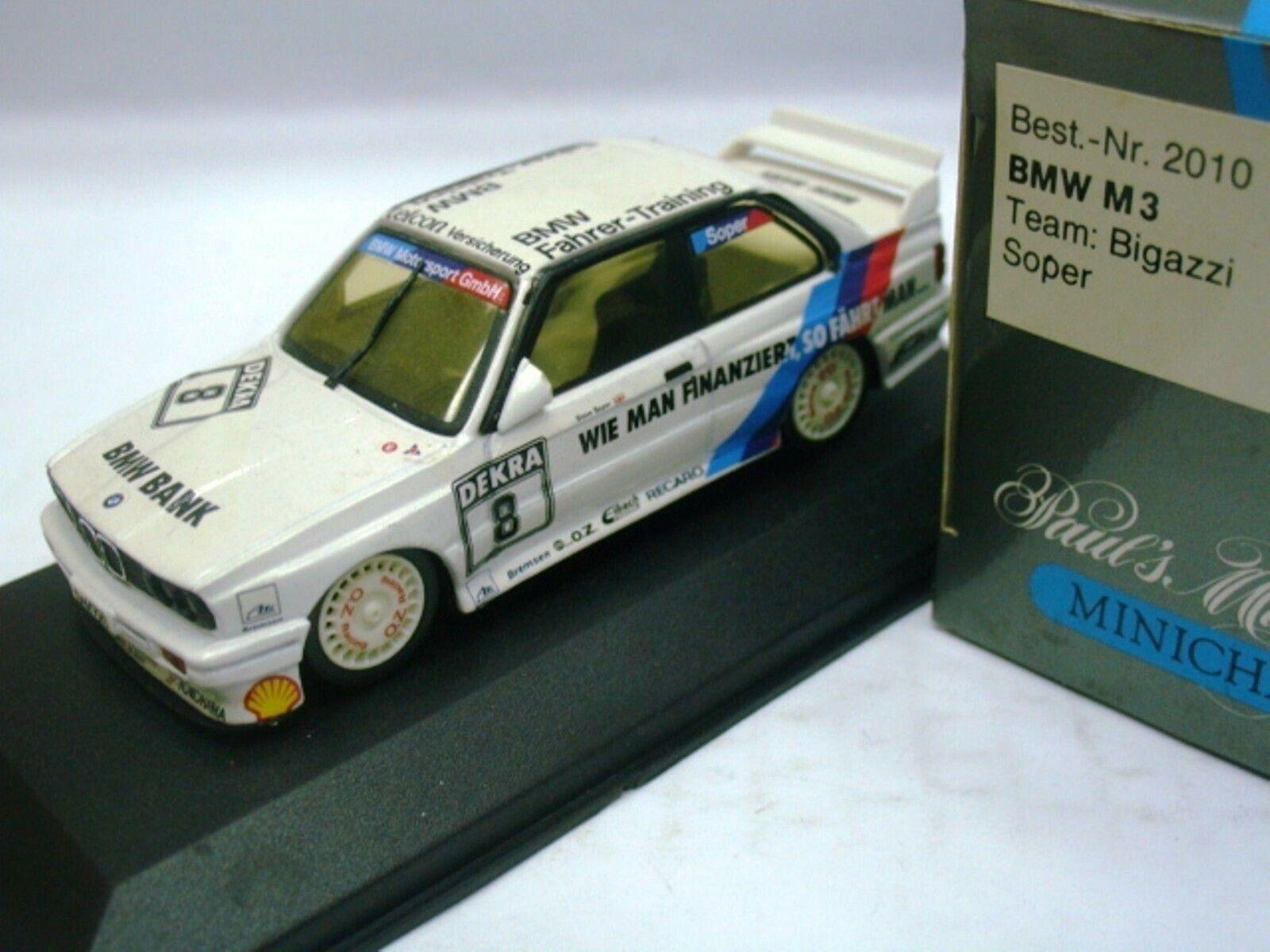 Wow extremadonnate raro BMW M3 E30 se DTM 1990 argentoinos ADAC Preis 1 43 Minichamps
