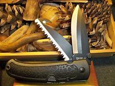 Old Ridge Runner Knife folding hunter dual lock back w saw and guthook NIB