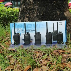 4XRetevis RT21 Walkie Talkie 2.5W UHF400-480MHz 16CH CTCSS//DCS VOX Radio US Ship