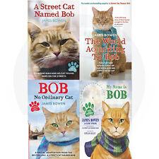 James Bowen Bob Cat Collection,The World According 4 Book Set (My Name is Bob)