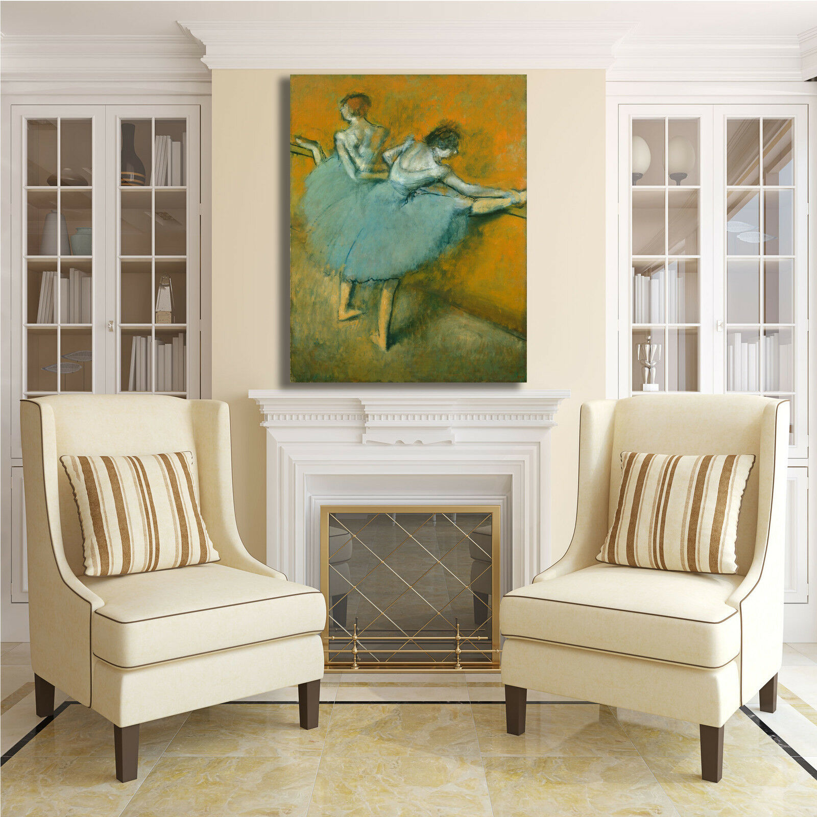 Degas ballerine alla sbarra design quadro stampa tela dipinto dipinto dipinto telaio arroto casa aec6a9