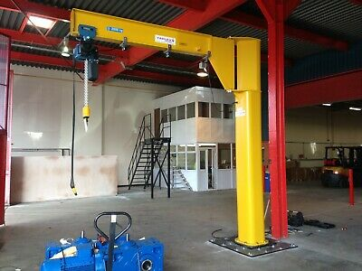 jib crane yaplex complete with demag electric chain hoist 125kg underbraced   ebay