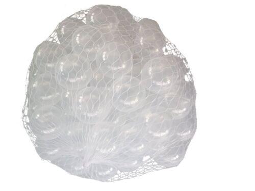 250 Bällebad transparente Bälle 55mm transparent Farben Baby Kind Spielbälle