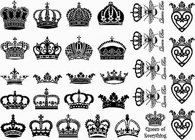 """Royal Crown 5/""""X7/"""" Card Black Fused Glass Decals 16CC670"""