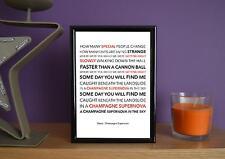 Framed - Oasis - Champagne Supernova - Poster Art Print - 5x7 Inches