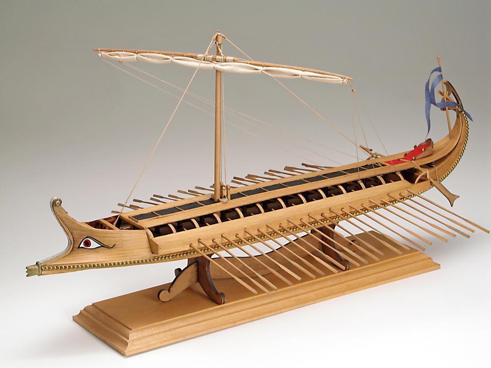 AMATI Greek Bireme ship wood model KIT Rare