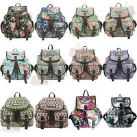 Designer Punk Pop Art Burger Multi-food/flower (floral) Aztec Print Backpack