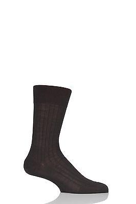 Mens 1 Pair Falke Milano Rib 100/% Fil d/'Ecosse Cotton Socks