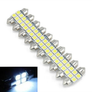 10X-Car-RV-Interior-4SMD-LED-Lamp-5050-31mm-White-Light-Dome-Festoon-Bulbs-DC12V