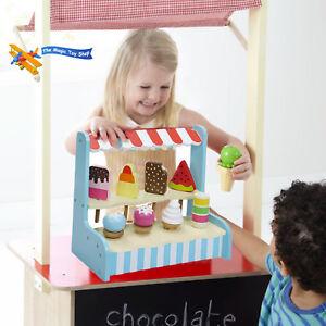 Enfants-Bois-Glace-Magasin-Lolli-Support-Fait-Semblant-Jouets-Nourriture