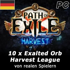 10 x Exalted Orb Harvest League SC Path of Exile PoE Deutsche IP - Hoppegarten, Deutschland - 10 x Exalted Orb Harvest League SC Path of Exile PoE Deutsche IP - Hoppegarten, Deutschland