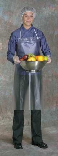 WEST CHESTER PROTECTIVE GEAR UPC-45 Bib Apron,45inLx36inW,Clear,8 mil,PK12