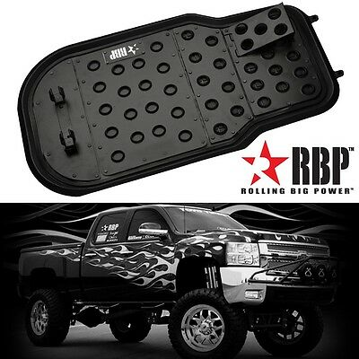 Universal RBP Black Powder Coated Aluminum Dimple Design Floor Mat for Truck