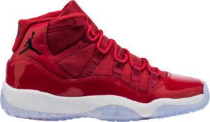 5992e50d254a06 Nike Air Jordan 11 Retro BG SZ 4Y Win Like  96 Gym Red 378038-623