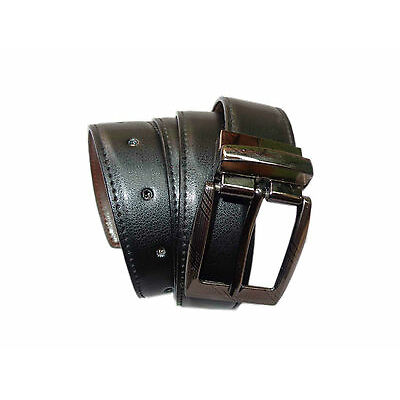 High Quality Reversible PU Leather Belt for Men Gents -  Black / Brown