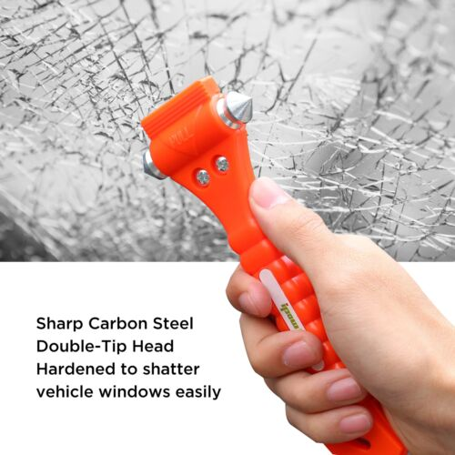 2 PCS High Carbon Steel Hard IPOW Car Safety Hammer Escape Tool With Antiskid...