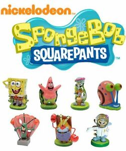 SpongeBob Patrick Gary Sandy Mr Krabs Squidward Plankton Resin