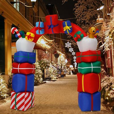 6 6ft Inflatable Santa Arch Archway Christmas Lighted Decor Airblown Outdoor Ebay