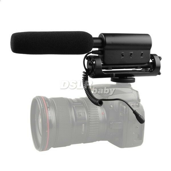 SGC598 Stereo Recording interview MIC Microphone f DSLR Camera Canon Nikon Sony
