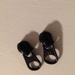 reverse hidden zipper slide pull black 5 pulls per lot