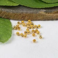 500pcs 2.8 mm SILVER-TONE roundelle Crimp Beads h0678