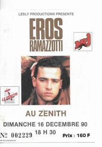 RARE-TICKET-BILLET-DE-CONCERT-EROS-RAMAZZOTTI-LIVE-A-PARIS-FRANCE-1990