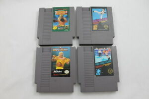 Lot-4-Nintendo-Entertainment-System-NES-Video-Games-Wrestle-Mania-Ring-King-Kung