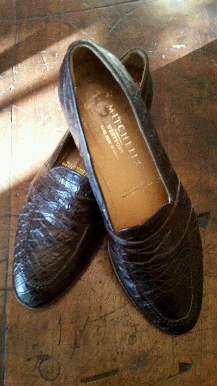 Sconto del 40%  1995 Gravati Marrone Marrone Marrone Loafer Genuine Crocodile Alligator US 11 N Made in   in vendita