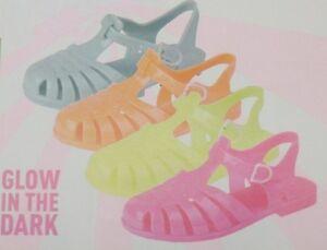 H2310 Mädchen Leuchten Im Dunklen Gummi Sandalen erhältlich In 4 Farben