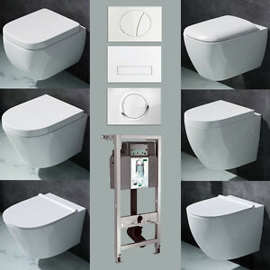 vorwandelement wand h nge wc set toilette softclose deckel. Black Bedroom Furniture Sets. Home Design Ideas
