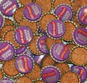 Soda pop bottle caps Lot of 25 OLD COLONY GRAPE cork lined unused new old stock