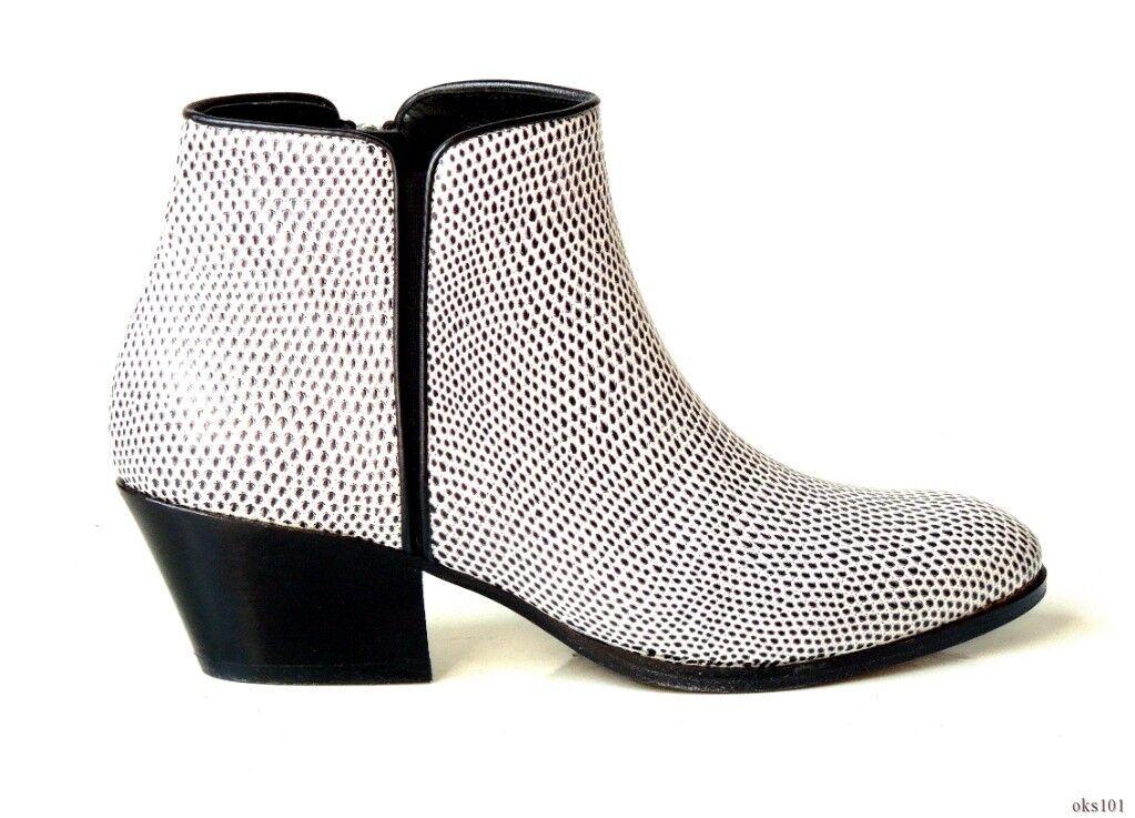 omaggi allo stadio New New New  950 Giuseppe ZANOTTI Daddy nero bianca textured leather zipper ANKLE stivali  saldi