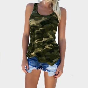 Women-Fashion-Casual-Army-Camo-Camouflage-Tank-Top-Sleeveless-O-neck-Slim-Shirt