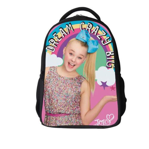Personalizd JoJo Siwa Kids Girl  Backpack Rucksack Waterproof School  Bag 11-16