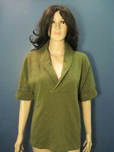 XXL-olive-green-soft-collared-knit-top-blouse-by-MERONA